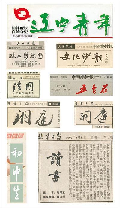陶阳波书法赏析——书法名家集评陶阳波书法_湖南名人网